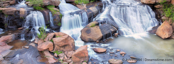 Greenville South Carolina falls park and iconic waterfall