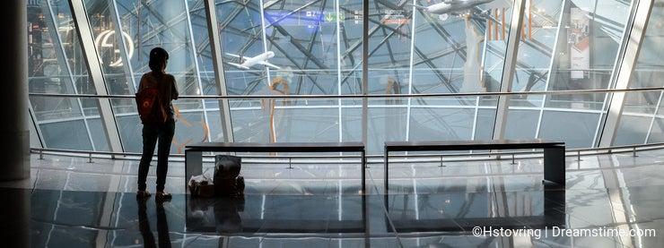 Waiting in transfer - Airport traveler