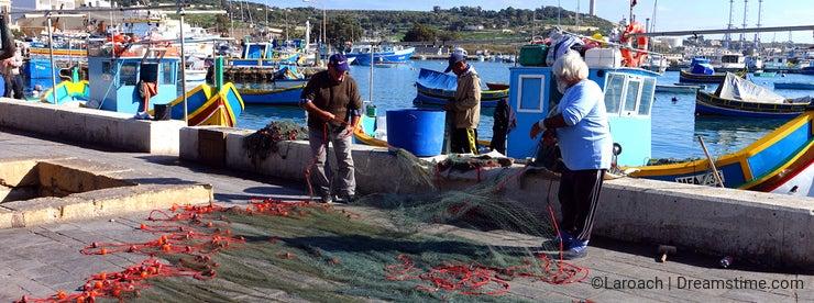 Fishing Nets In Marsaxlokk Malta