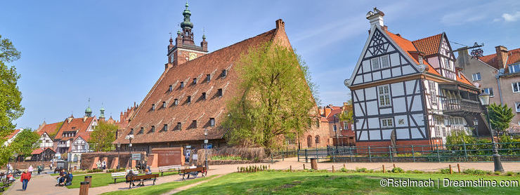 GDANSK, POLAND - APRIL 28, 2018: The large watermill Wielki Mly