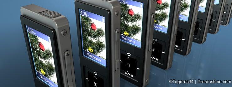 Digital Christmas scene