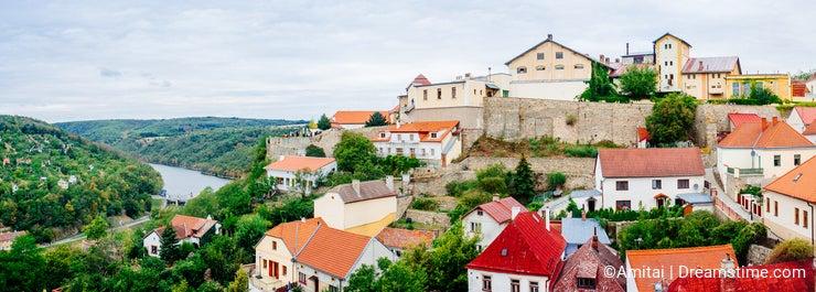 Czech Republic-Znojmo castle panorama