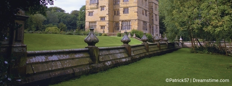 Historic Elizabethan Gawthorpe Hall.