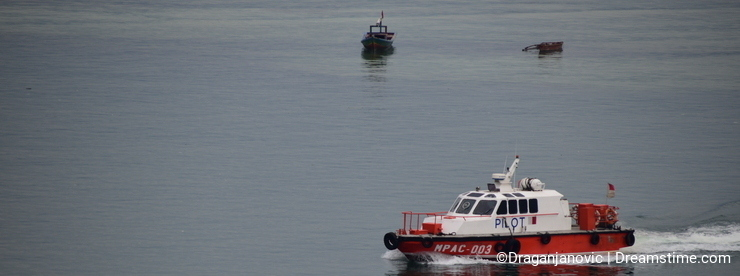 Early morning duty for pilot boat
