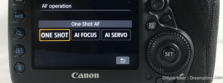 Selecting AF Operations - One-Shot