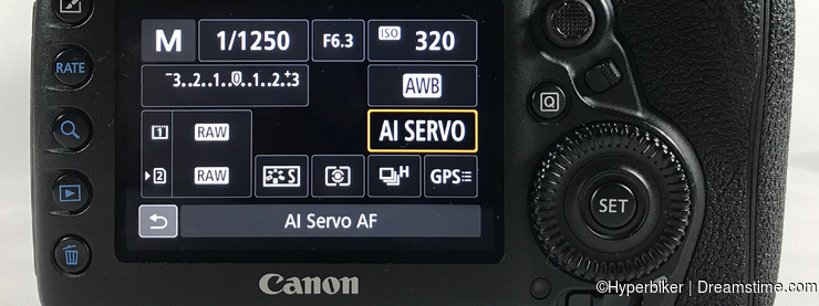 Selecting AF Operations - AI Servo