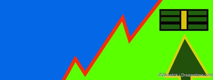 Stock Chart Illustration Showing Money