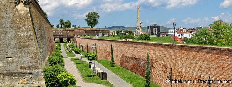 Alba Iulia Fortress defense wall system