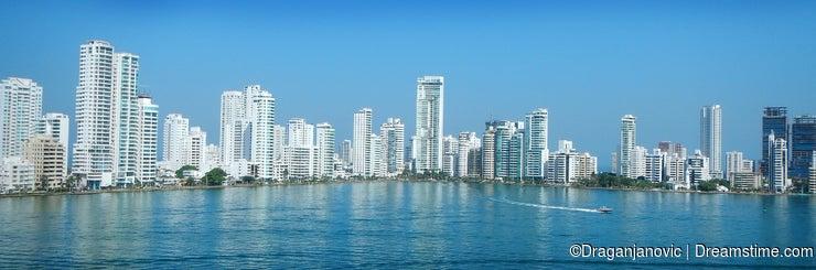 Cartagena city skyline