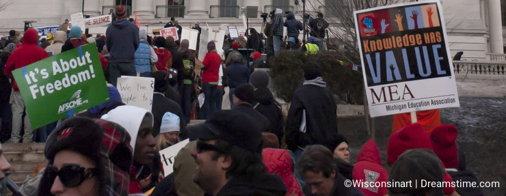 Union Labor Protest at Capital Building