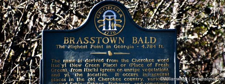 Brasstown Bald Georgia Historic Marker