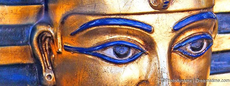 Egyptian mask of king tut