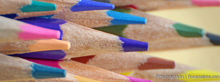 Artists colouring pencils