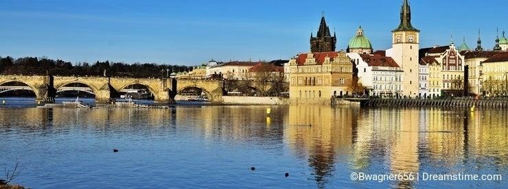 The iconic Charles Bridge in Prague, Czech Republic