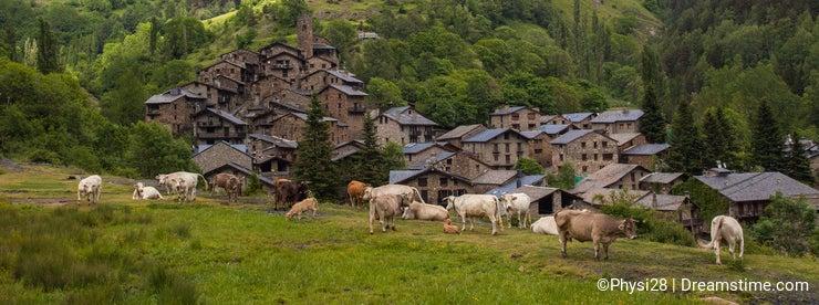 Os de Civis village Pyrenees mountains