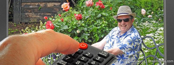 Gardeners world gardening garden program tv television hand control remote