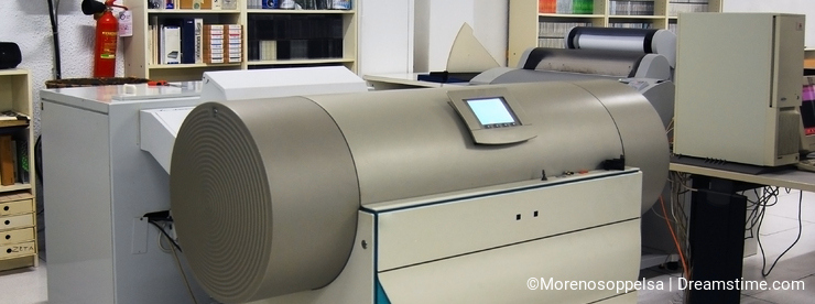 Printing shop - Drum scanner