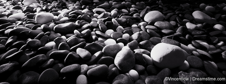 River stones background