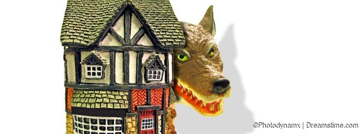 Mortgage danger wolf predator burglar burgle home guard alarm safety security secure