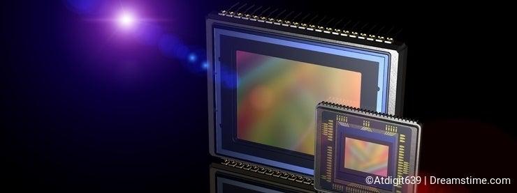 Digital camera sensor compared to phone matrix