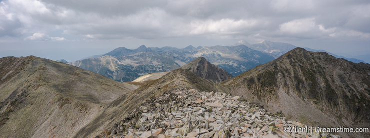 Mountain Pirin from peak Polezan peak Polezan