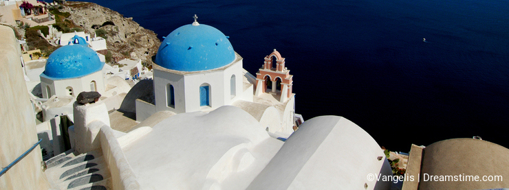 Church in Santorini, Greece.