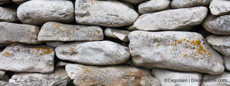 Stone fence. Thy Denmark.