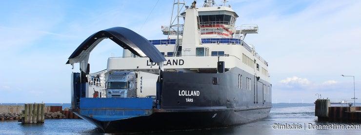 Spodsbjerg ferry docking, Langeland, Denmark