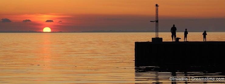 Watching the Golden sunset, Bagenkop, Denmark