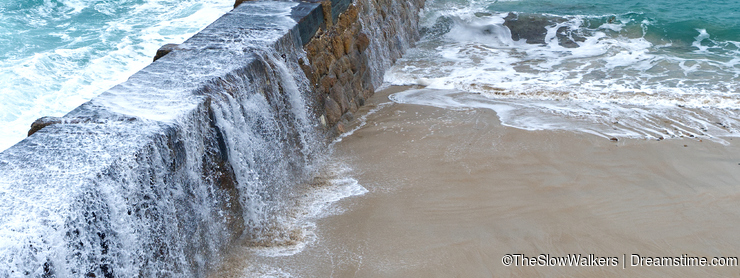 Harbour wall, Sennen Cove, Cornwall.