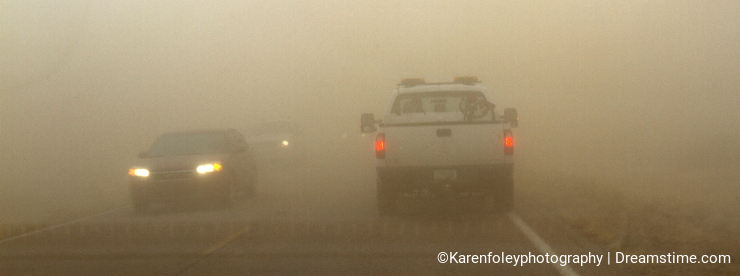 Driving in a Sand Storm