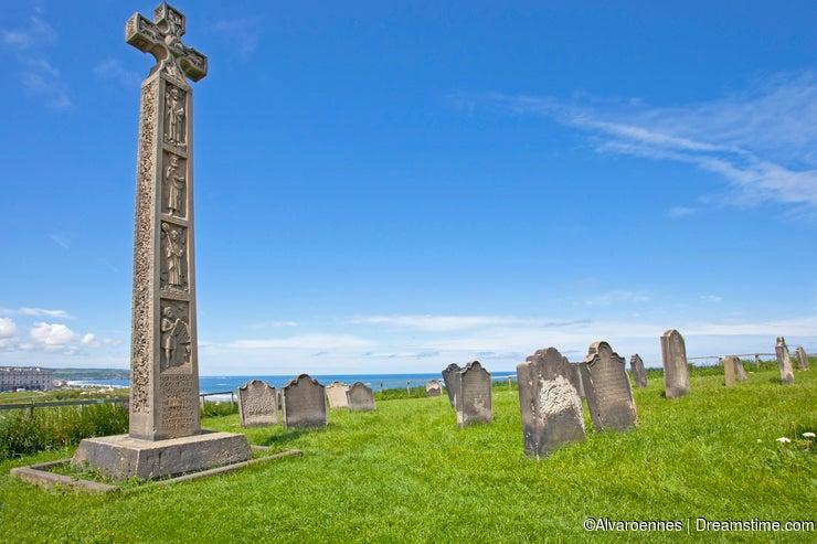Celtic Cross in Whitby Abbey
