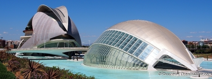 The Queen Sofia Palace of the Arts and The Hemisferic, City of Arts and Sciences, Valencia