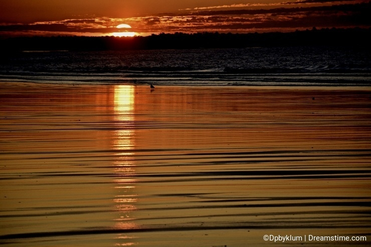 Old Orchard Beach in Maine is a Delight at Sunrise