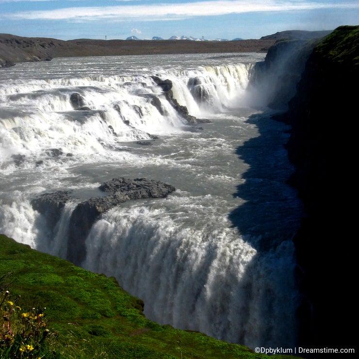 Gullfoss Waterfall in Scenic Iceland