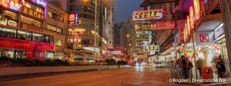 Hong Kong street, China