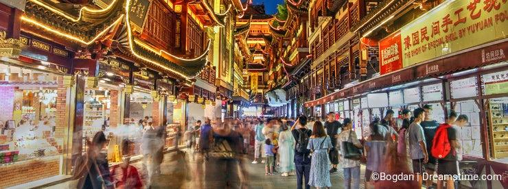 Yu Gardens alley, Shanghai, China