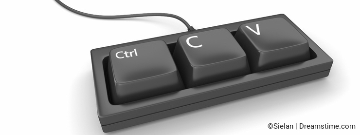 Copy paste keyboard
