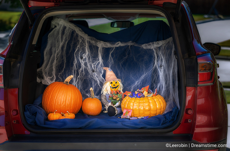 Car decorated for Trunk or Treat event