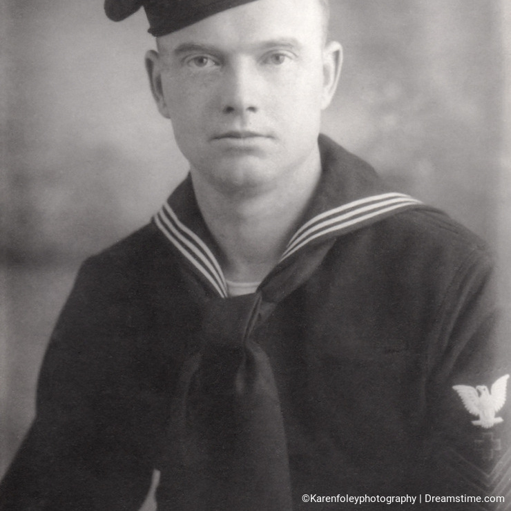 Young World War 2 Navy Recruit