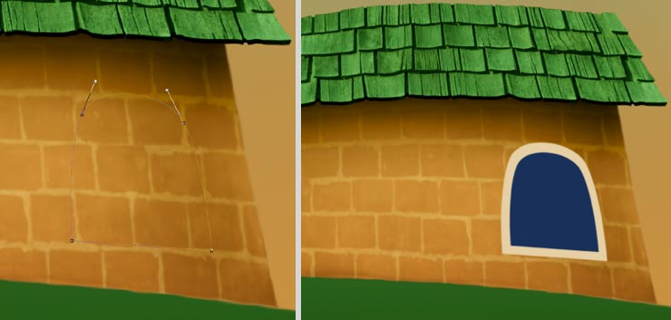 Photoshop Tutorial: Whimsical Wonders - Step 9 - Windows