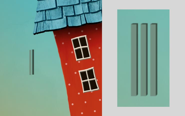 Photoshop Tutorial: Whimsical Wonders - Step 10 - Window Shutters