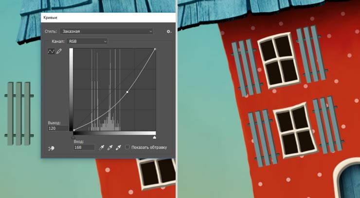 Photoshop Tutorial: Whimsical Wonders - Step 10 - Window Shutters Photoshop