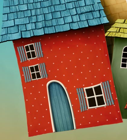 Photoshop Tutorial: Whimsical Wonders - Step 10 - All Window Shutters