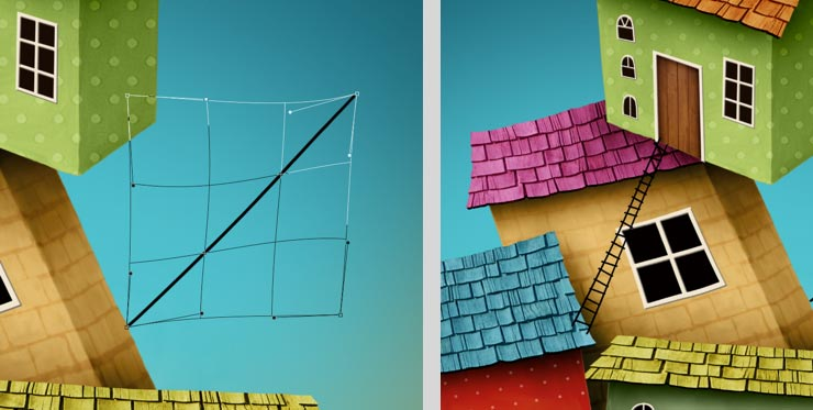 Photoshop Tutorial: Whimsical Wonders - Step 11 - Create Ladder