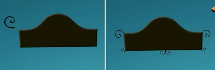 Photoshop Tutorial: Whimsical Wonders - Step 13 - Signboard Curves & Complete Signboard