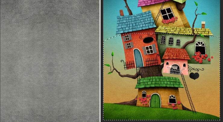 Photoshop Tutorial: Whimsical Wonders - Step 18 - Final Texture & Final Texture Placement