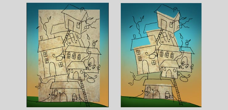 Photoshop Tutorial: Whimsical Wonders - Step 5 - Facades