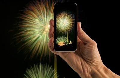 Shooting Fireworks at National Events