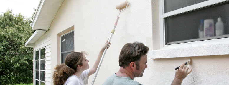 Stock photo: family painting project